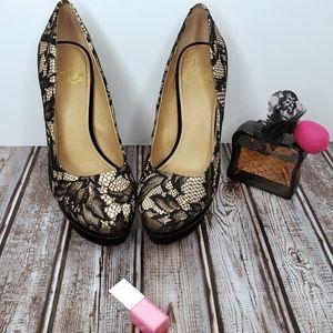 GORGEOUS Velvet & Lace Stiletto Heels